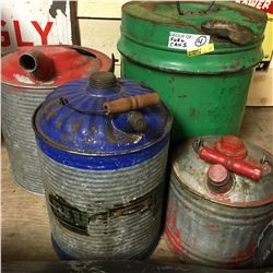 Group of 4 Fuel Cans - Variety