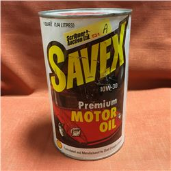 Oil Quart Tin - Full : Savex