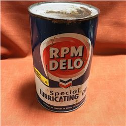 Oil Quart Tin - Full : RPM Delo