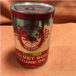 Oil One Litre Tin - Full : Red Ram Velvet 900