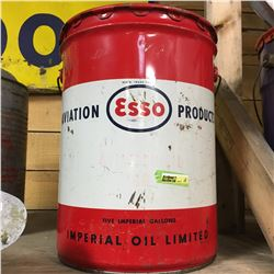 Esso Aviation 5 Gallon Pail