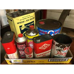 Tray Lot: Oil & Service Station Tins (9)