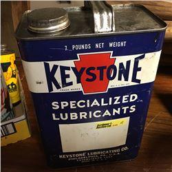 "Oil Tin: 1 Gallon ""Keystone"""