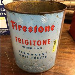 "Antifreeze Tin : 1 Gallon ""Firestone"""