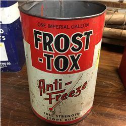 "Antifreeze Tin : 1 Gallon ""Frost-Tox"""