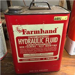 """Hyd Oil Tin : 2 Gallon """"Farmhand"""""""