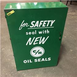"""Store Tin Display Cabinet """"C/R Oil Seals"""""""