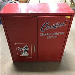 """Red Store Display Cabinet """"Certified Brake Service Depot"""""""