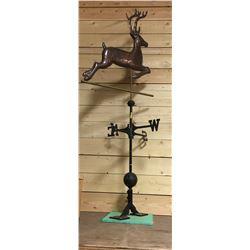 Copper Deer Weather Vane