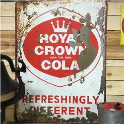 "Royal Crown Cola Tin Sign (36"" x 48"")"