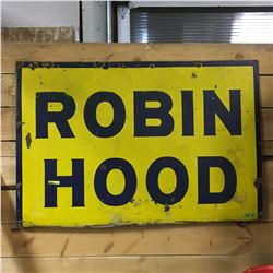 "Enamel Sign ""ROBIN HOOD"" (36"" X 28"") (Slight Bend - Bottom)"