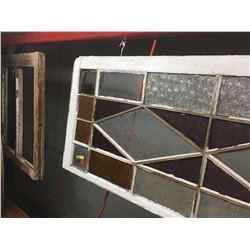 Screen Door, Stain Glass Window & Window Frame/Sash