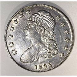 1835 CAPPED BUST HALF DOLLAR, AU