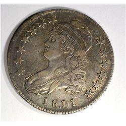 1811 CAPPED BUST HALF DOLLAR, XF+