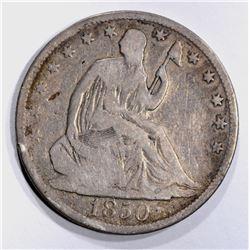 1850-O SEATED HALF DOLLAR VG