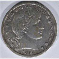 1894-O BARBER HALF DOLLAR, XF
