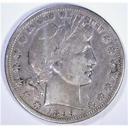 1899-S BARBER HALF DOLLAR, VF