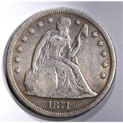 1871 SEATED LIBERTY DOLLAR  VG-FINE