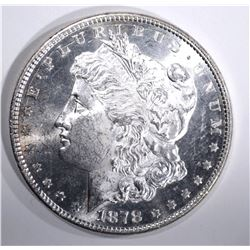 1878 8TF MORGAN DOLLAR, CH BU+