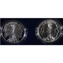 2001 2-PIECE AMERICAN BUFFALO COMMEM SET, BOX/COA
