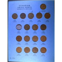 SET CANADA SMALL CENTS 1920-70 MISSING THE 1925