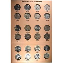 1932-1998 WASHINGTON QUARTER SET AS FOLLOWS: