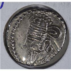 147-191 AD SILVER DRACHM EMPEROR VOLOGASES IV