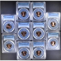 2 each PCGS PR69DCAM LINCOLN CENTS;