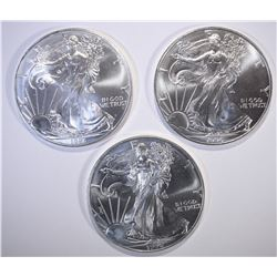 3-BU 1996 AMERICAN SILVER EAGLES BETTER DATE