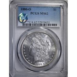 1880-O MORGAN DOLLAR PCGS MS62