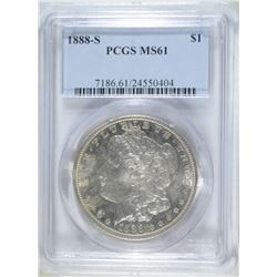 1888-S MORGAN DOLLAR PCGS MS61