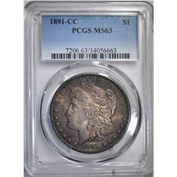 1891-CC MORGAN DOLLAR PCGS MS63