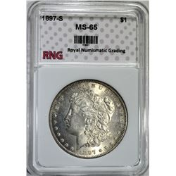 1897-S MORGAN DOLLAR RNG GEM BU