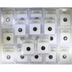 20 - ROOSEVELT DIMES in GRADED HOLDERS
