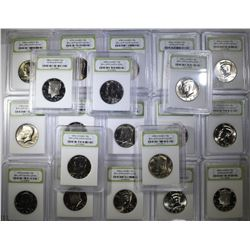 20 - KENNEDY HALF DOLLARS - ALL BU's or