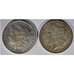 2 1879 MORGAN DOLLARS  XF