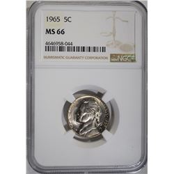 1965 JEFFERSON NICKEL NGC MS66