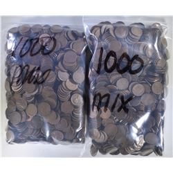 2000 MIXED DATE CIRC LINCOLN WHEAT CENTS