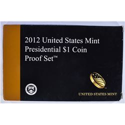 2012 U.S. PRESIDENTIAL DOLLAR PROOF SET