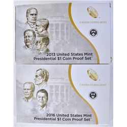 2013 & 2016 U.S. PRESIDENTIAL PROOF SETS