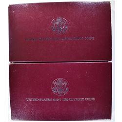 1988 Pf & UNC COMMEM OLYMPIC SILVER DOLLARS