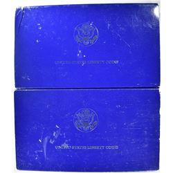 2-1986 STATUE OF LIBERTY 2-COIN COMMEM SETS