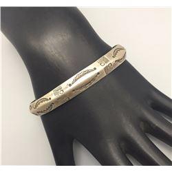 Handmade Hammered Ingot Bracelet