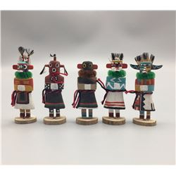 Group of Five Miniature Hopi Kachinas