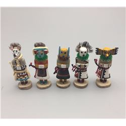 Five Miniature Hopi Kachinas