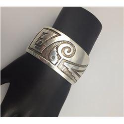 Overlay Sterling Silver Bracelet