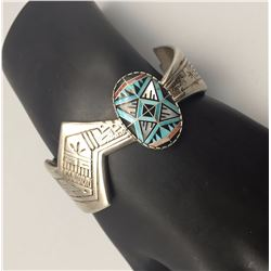 Sterling Silver Inlay Bracelet