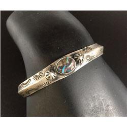 Vintage Handmade Coin Silver Ingot Bracelet