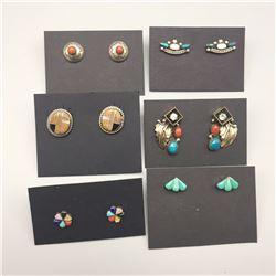6 Pair Southwest Earrings