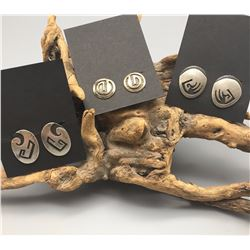 3 Pair Hopi Earrings